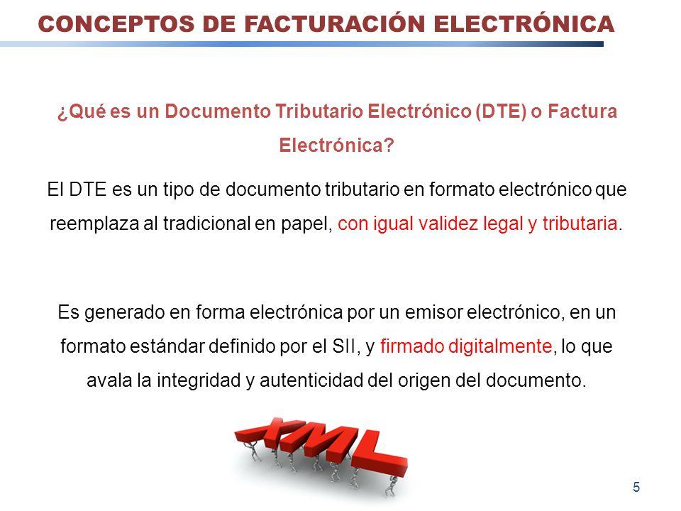 ¿Qué es un Documento Tributario Electrónico (DTE) o Factura Electrónica? El DTE es un tipo de documento tributario en formato electrónico que reemplaz