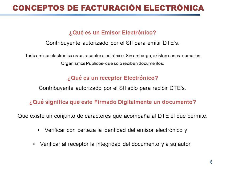 ¿Qué es un Emisor Electrónico? Contribuyente autorizado por el SII para emitir DTEs. Todo emisor electrónico es un receptor electrónico. Sin embargo,