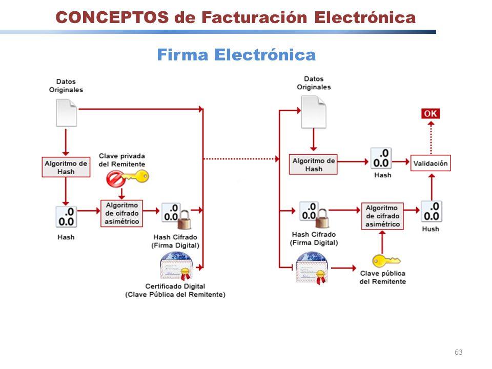 63 CONCEPTOS de Facturación Electrónica Firma Electrónica
