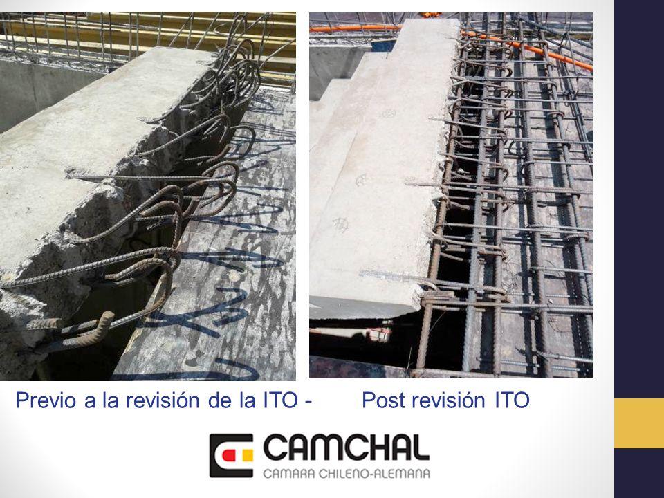 Con la participación de la ITO se busca mejorar la eficiencia en: Diseño, Alcanzar los estándares de calidad especificados, Cumplimiento de costos y plazos, Prevención de accidentes, Cuidado ambiental.