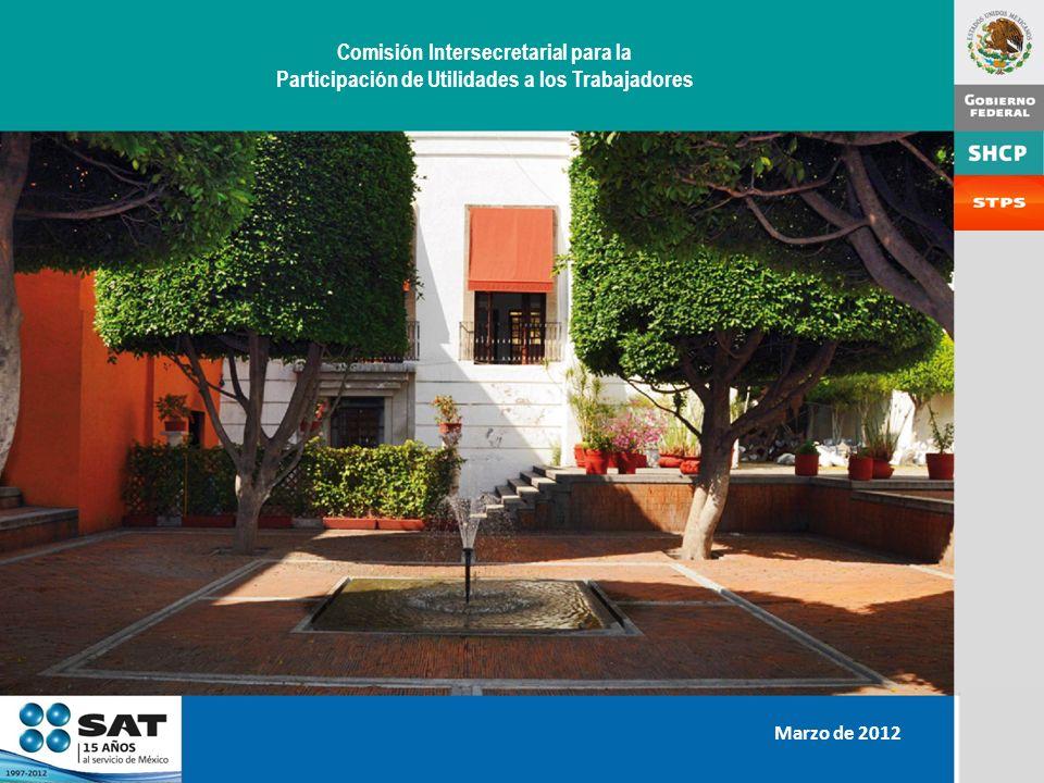 Comisión Intersecretarial para la Participación de Utilidades a los Trabajadores Marzo de 2012