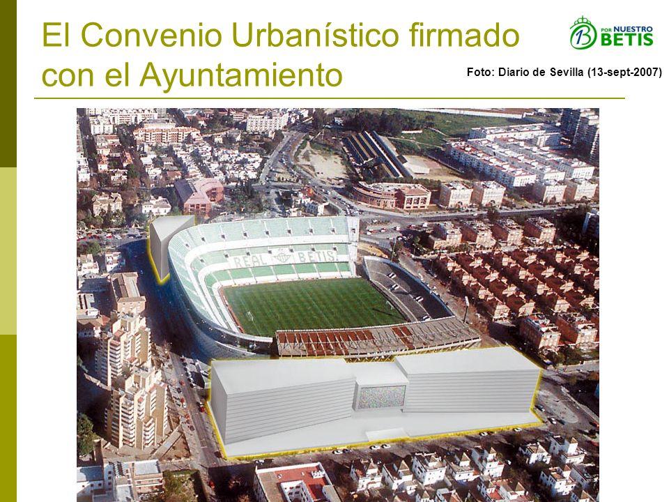 El Convenio Urbanístico firmado con el Ayuntamiento Foto: Diario de Sevilla (13-sept-2007)