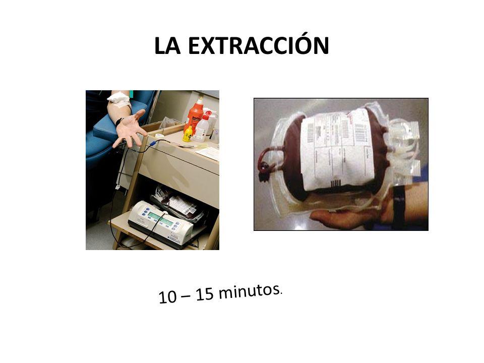 LA EXTRACCIÓN 10 – 15 minutos.