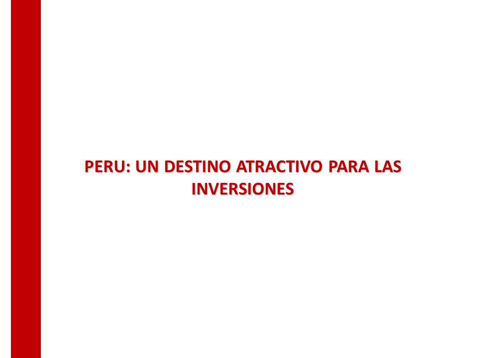 PERU: UN DESTINO ATRACTIVO PARA LAS INVERSIONES