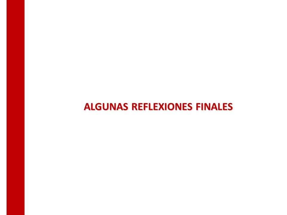 ALGUNAS REFLEXIONES FINALES