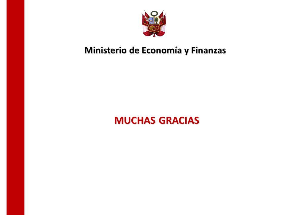 MUCHAS GRACIAS Ministerio de Economía y Finanzas