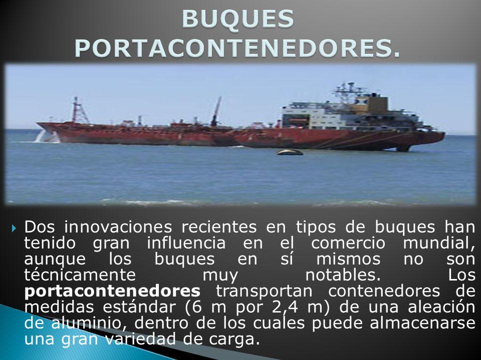 Dos innovaciones recientes en tipos de buques han tenido gran influencia en el comercio mundial, aunque los buques en sí mismos no son técnicamente muy notables.