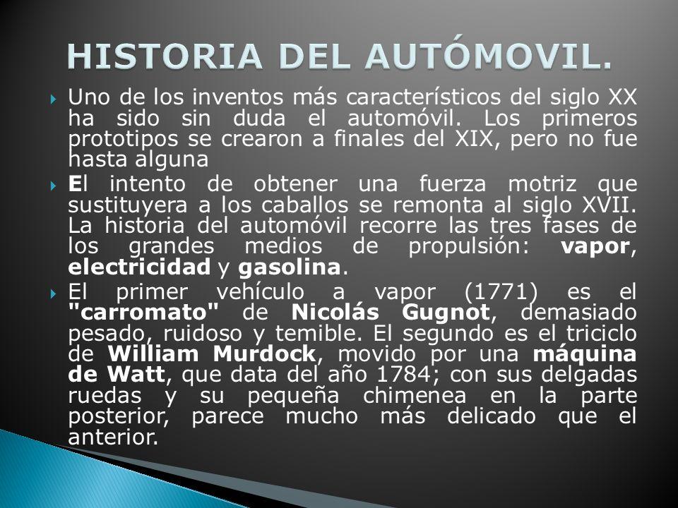 Uno de los inventos más característicos del siglo XX ha sido sin duda el automóvil.