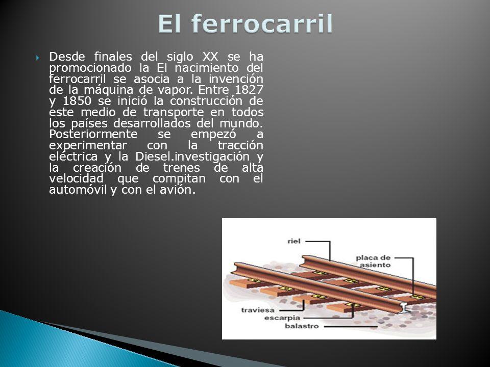 Desde finales del siglo XX se ha promocionado la El nacimiento del ferrocarril se asocia a la invención de la máquina de vapor.