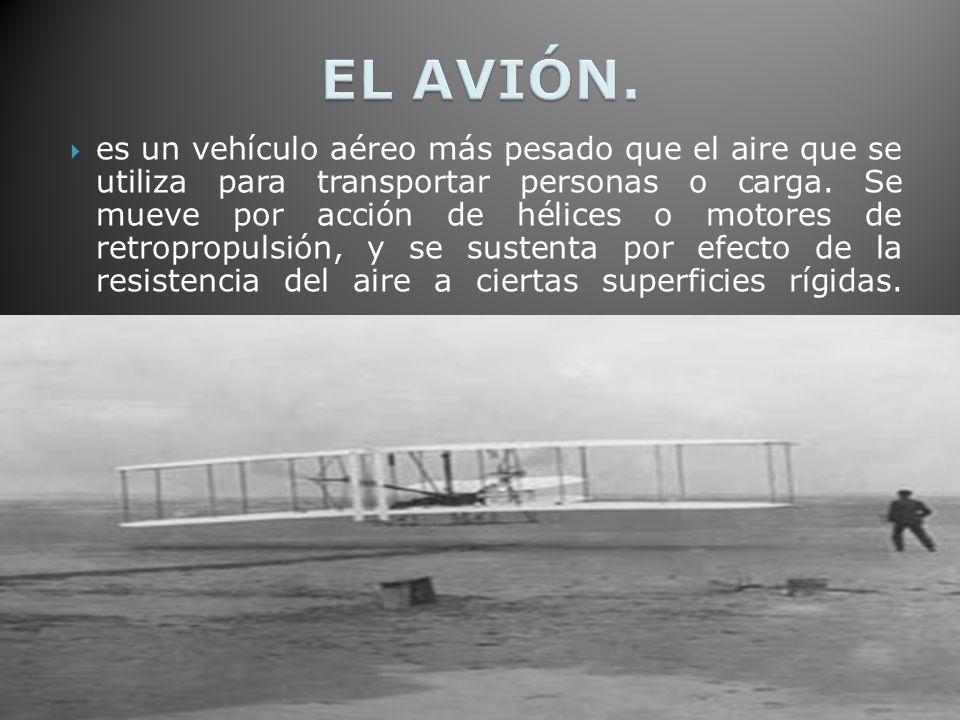 es un vehículo aéreo más pesado que el aire que se utiliza para transportar personas o carga.