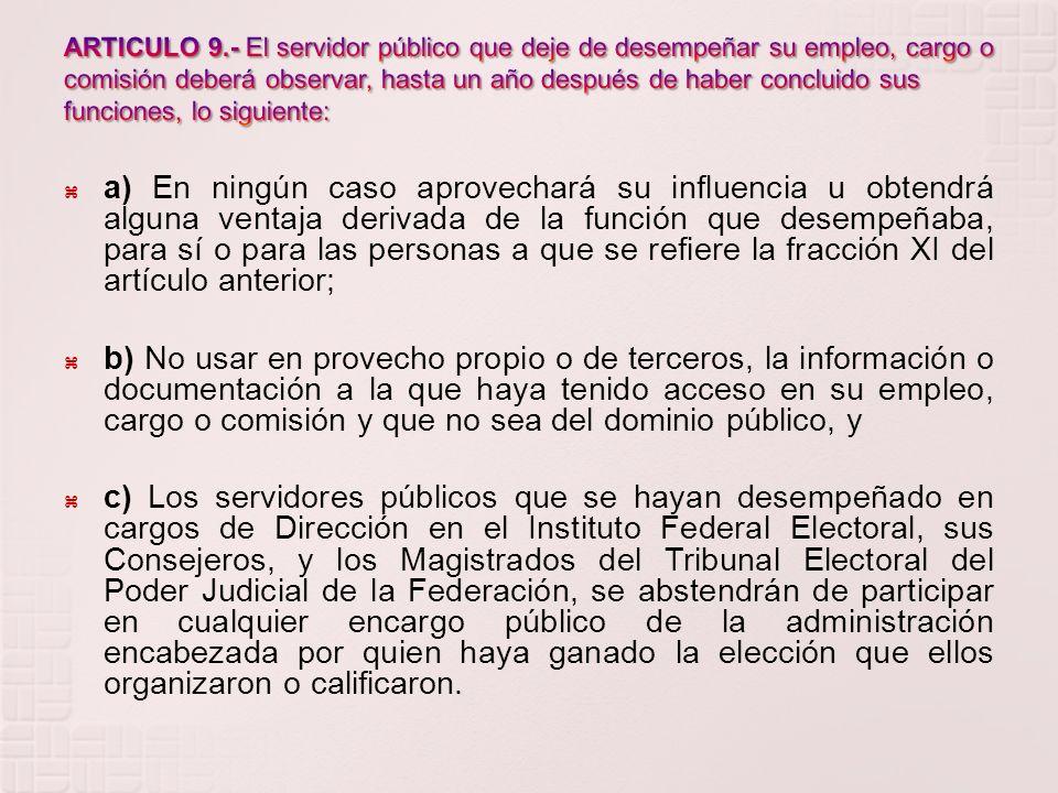 Ley: A la Ley Federal de Responsabilidades Administrativas de los Servidores Públicos Secretaría: A la Secretaría de la Función Pública Contralorías I