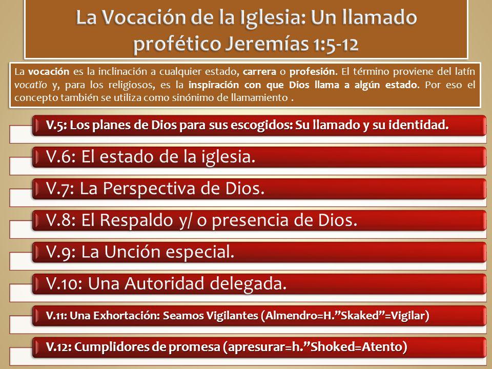 V.5: Los planes de Dios para sus escogidos: Su llamado y su identidad.