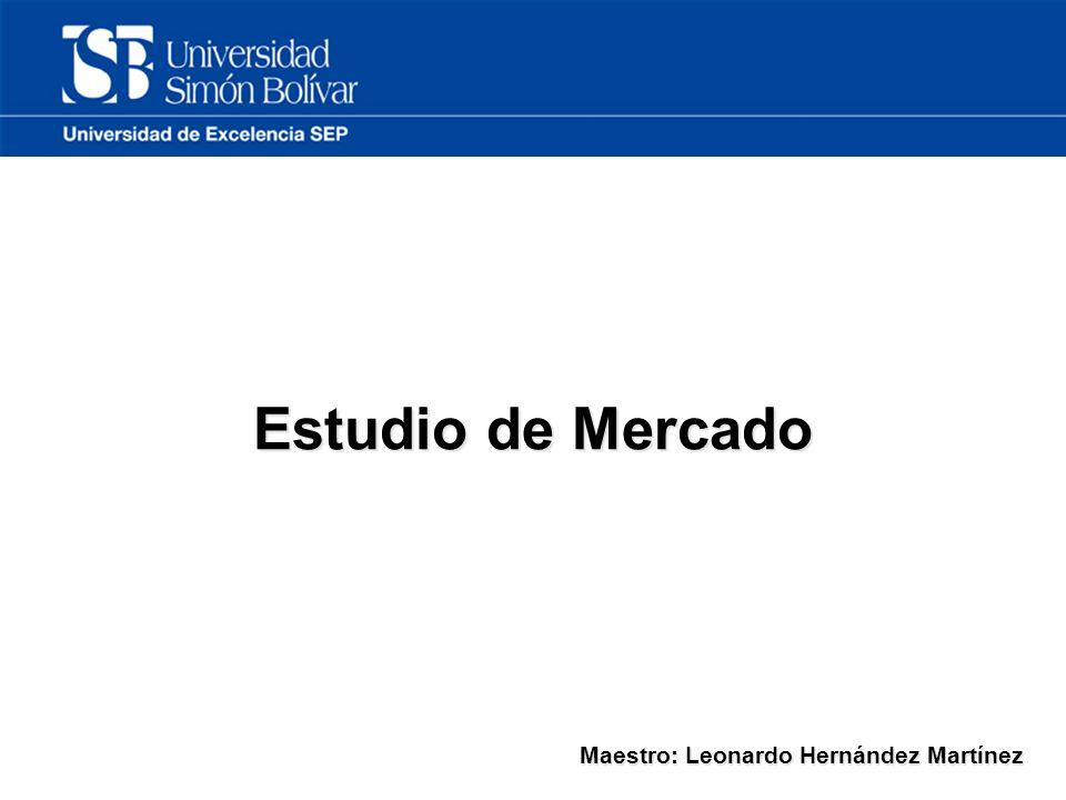 Estudio de Mercado Maestro: Leonardo Hernández Martínez