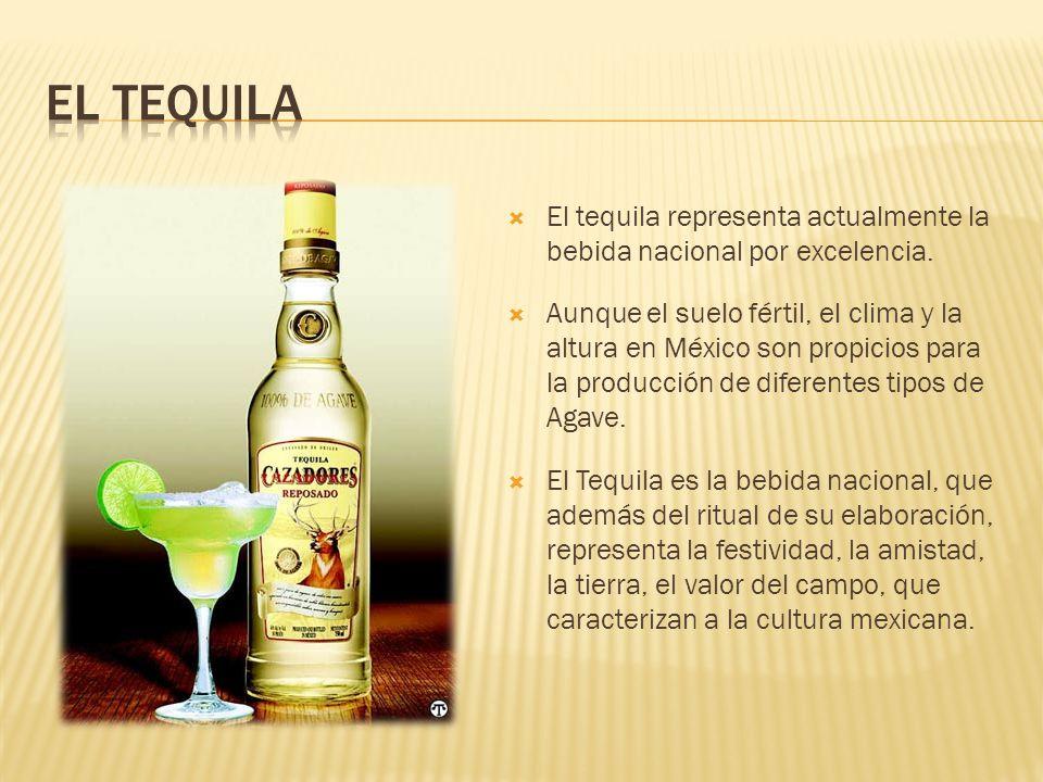 El tequila representa actualmente la bebida nacional por excelencia. Aunque el suelo fértil, el clima y la altura en México son propicios para la prod