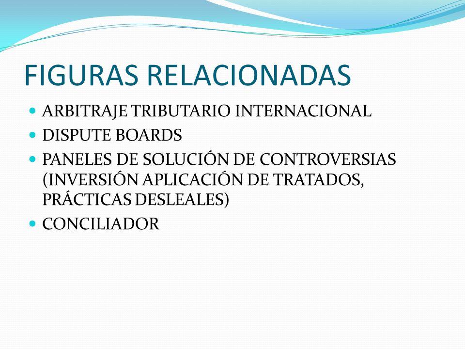 FIGURAS RELACIONADAS ARBITRAJE TRIBUTARIO INTERNACIONAL DISPUTE BOARDS PANELES DE SOLUCIÓN DE CONTROVERSIAS (INVERSIÓN APLICACIÓN DE TRATADOS, PRÁCTIC