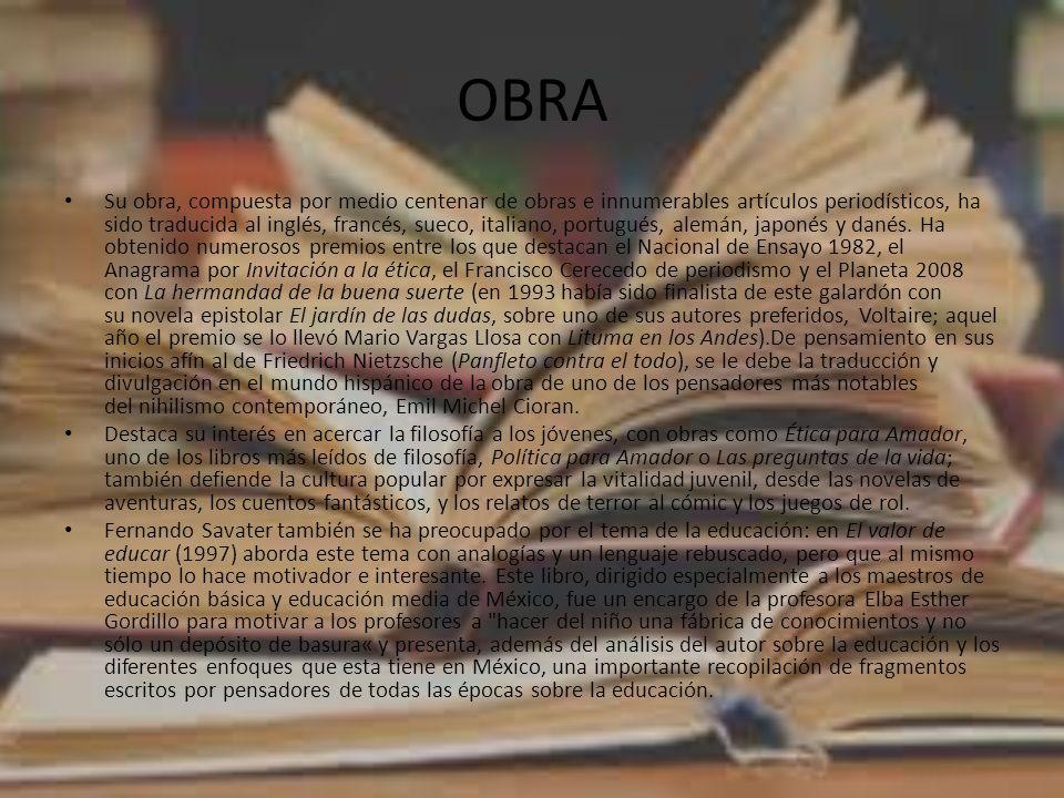 OBRA Su obra, compuesta por medio centenar de obras e innumerables artículos periodísticos, ha sido traducida al inglés, francés, sueco, italiano, por
