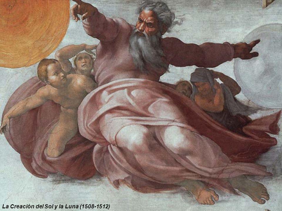 La Bóveda de la Capilla Sixtina Entre marzo y abril de 1508, el artista recibe de Julio II el encargo de decorar la bóveda de la Capilla Sixtina, en mayo acepta y los frescos los concluye cuatro años más tarde, tras un solitario y tenaz trabajo.
