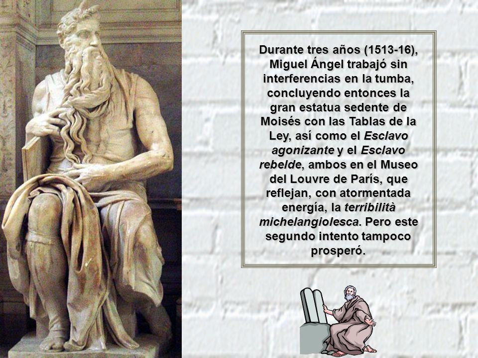 Tumba de Giuliano de Médicis (Capilla Medicea ) Sin embargo, Miguel Ángel padecería trastornos ocurridos por el largo tiempo en el que permaneció acostado al pintar el techo de la capilla.