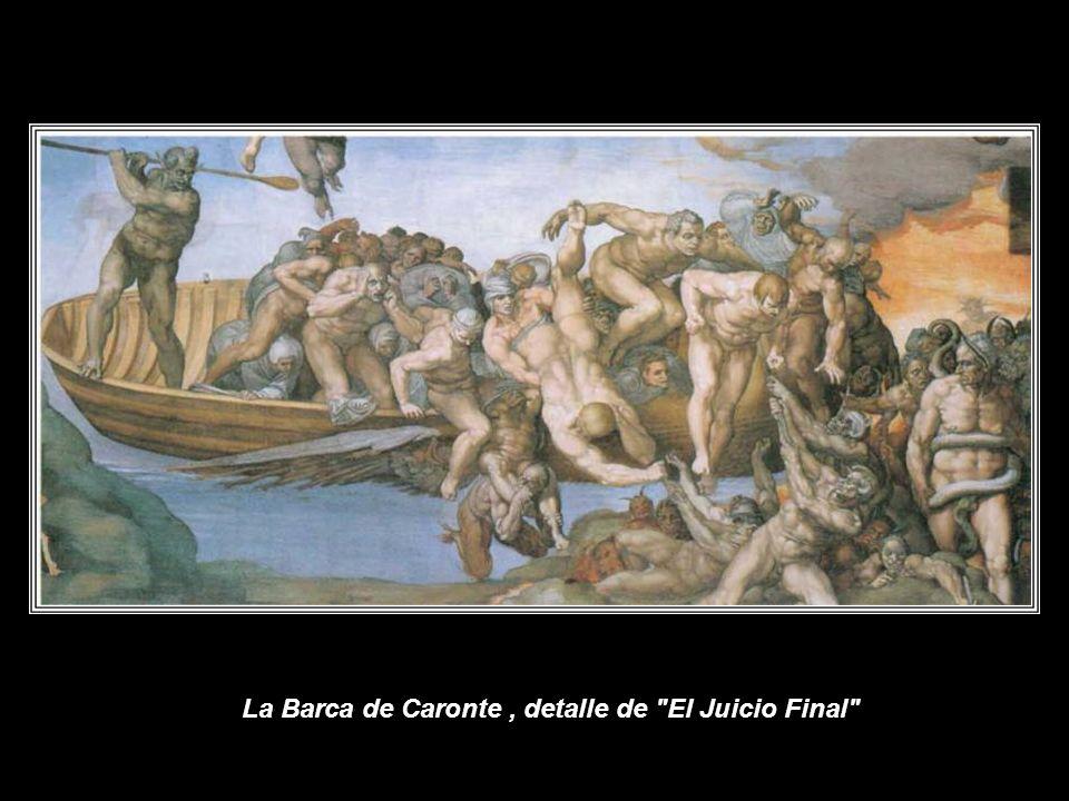 El Juicio Final En 1534, a disgusto con la nueva situación política de Florencia, abandona la ciudad estableciéndose definitivamente en Roma, donde acepta el encargo de Clemente VII para el altar de la Capilla Sixtina, donde realiza el Juicio Final, entre 1536 y el otoño de 1541.