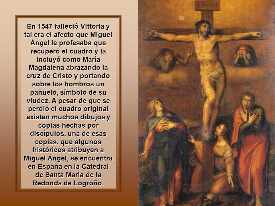 El Juicio Final, detalle Hacia 1539 entabló una apasionada amistad con Vittoria Colonna, a quien estimó enormemente, y quien tuvo sobre él una gran influencia.