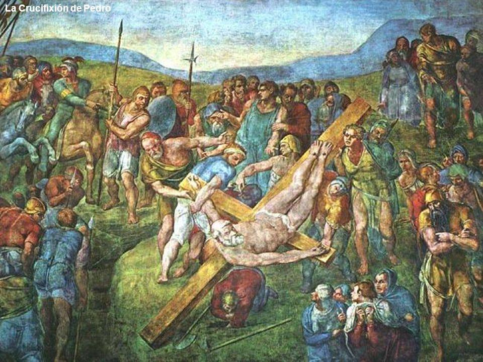 Conversión de San Pablo De 1542 a 1550 trabajó en los frescos de la Capilla Paulina: La conversión de San Pablo y El Martirio de San Pedro.