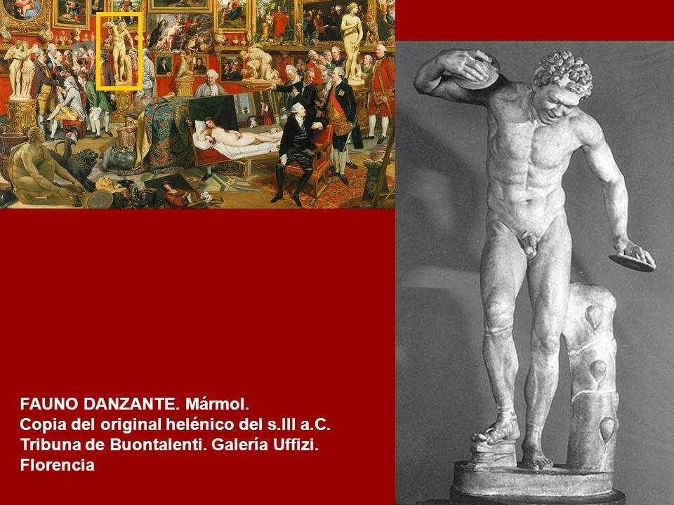 AMOR Y PHSIQUIS Copia romana de un original helenístico del siglo II AC. Mármol. Altura 124 cm Museos Capitolinos. Roma.
