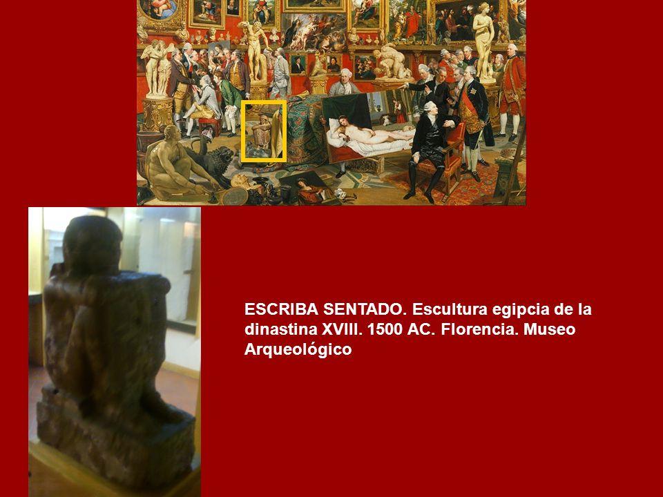 LA QUIMERA DE AREZZO.- Arte etrusco. (380-360 a.C.) Bronce. Hallada en 1553 en Arezzo (Toscana) Museo Arqueológico. Florencia