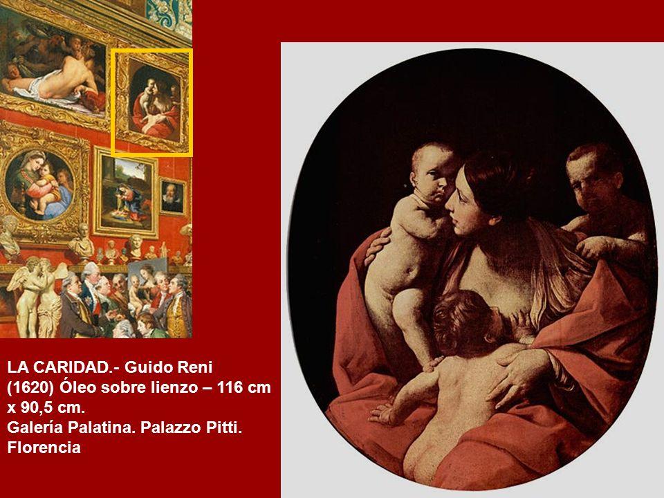 VENUS CON SÁTIRO Y CUPIDO.- Aniballe Carraci (h.1588) Óleo sobre lienzo – 112cm. X 142 cm. Galería Uffizi, Florencia