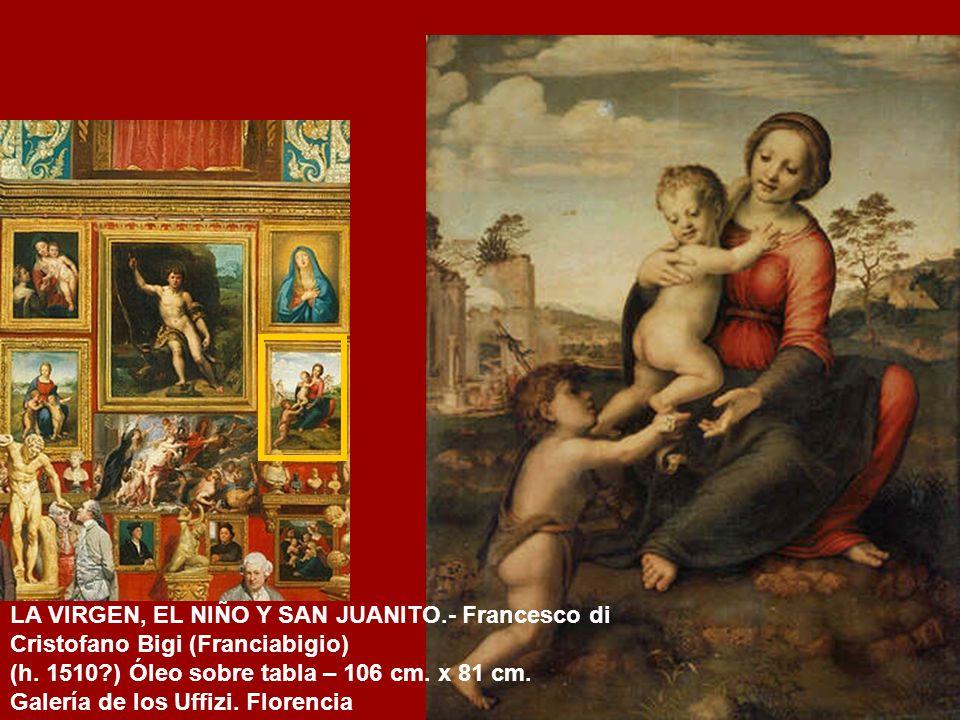 LA VIRGEN DEL JILGUERO.- Rafael Sanzio (h. 1507) Óleo sobre tabla – 107 cm x 77 cm. Galería Uffizi. Florencia