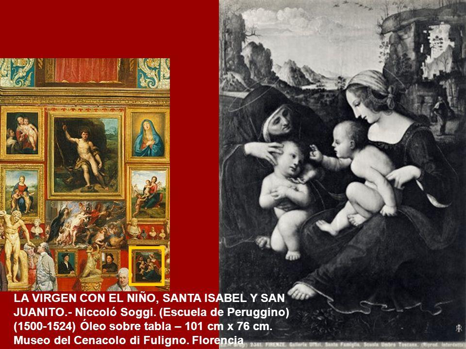 RETRATO DE PIETRO PERUGINO.- Atribuido a Rafael. (1482) Óleo sobre tabla – 59 cm x 46 cm Galería Uffizi. Florencia