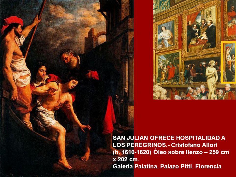 EL TRIBUTO DEL CESAR.- Bartolomeo Manfredi (1610 -1620) Óleo sobre lienzo – 130 cm x 191 cm. Galería Uffizi. Florencia