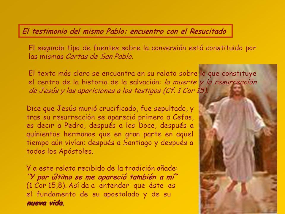 Las tres narraciones del acontecimiento de Hechos La primera fuente del acontecimiento la encontramos en los relatos de Lucas en los Hechos de los Apó