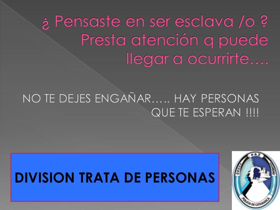 DIVISION TRATA DE PERSONAS