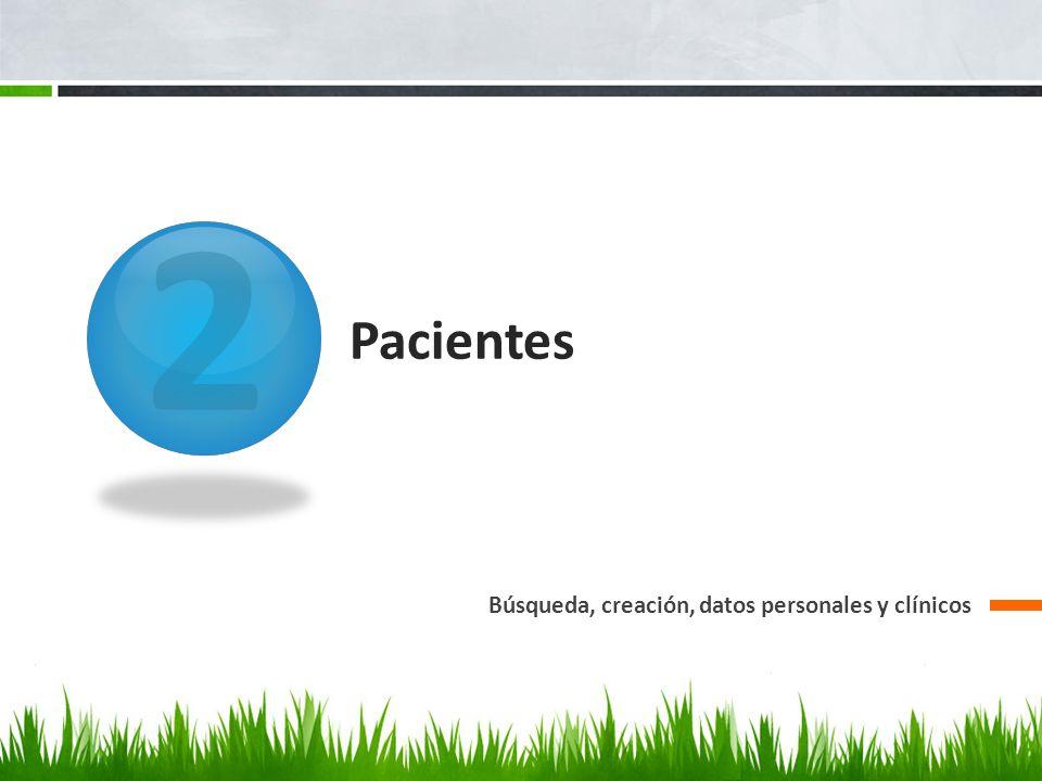 Pacientes: búsqueda Con la barra de desplazamiento podemos obtener más datos a simple vista.