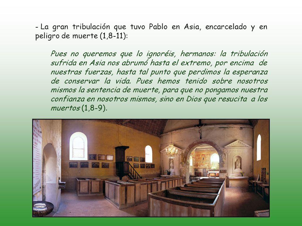 + Alabanza a Dios (1,3-11) Pertenece a la carta que escribió Pablo después de recibir la noticia de la buena acogida de la carta de las lágrimas.