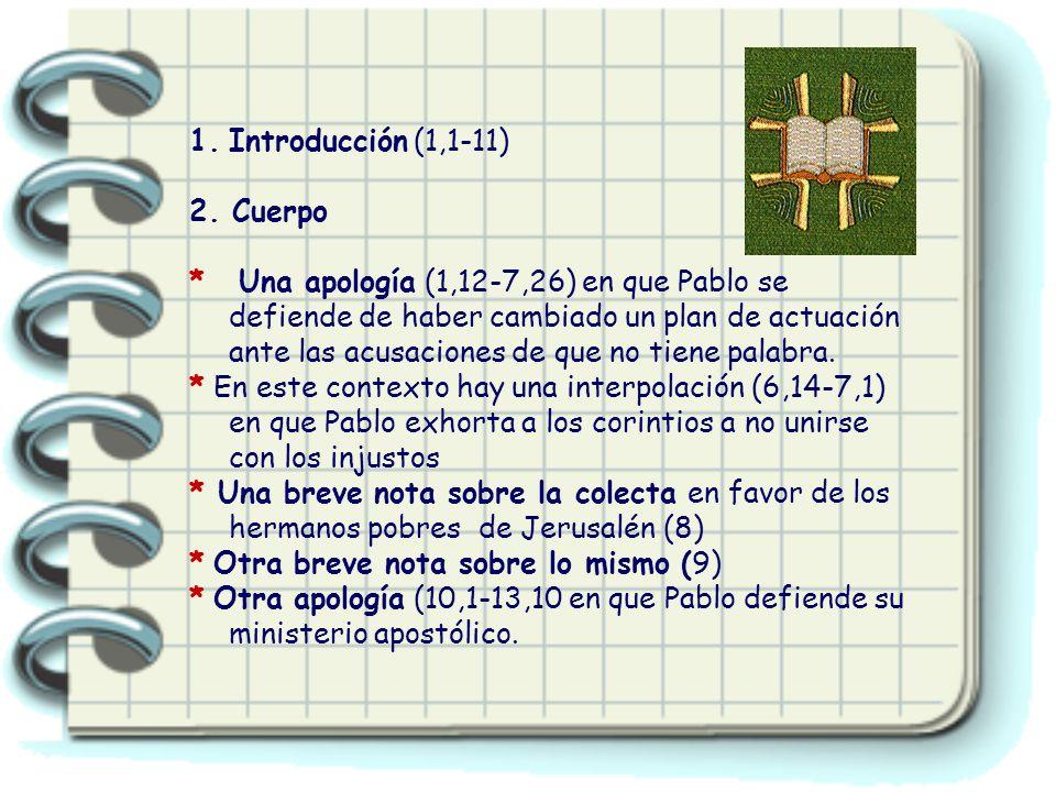 1.Introducción (1,1-11) 2.