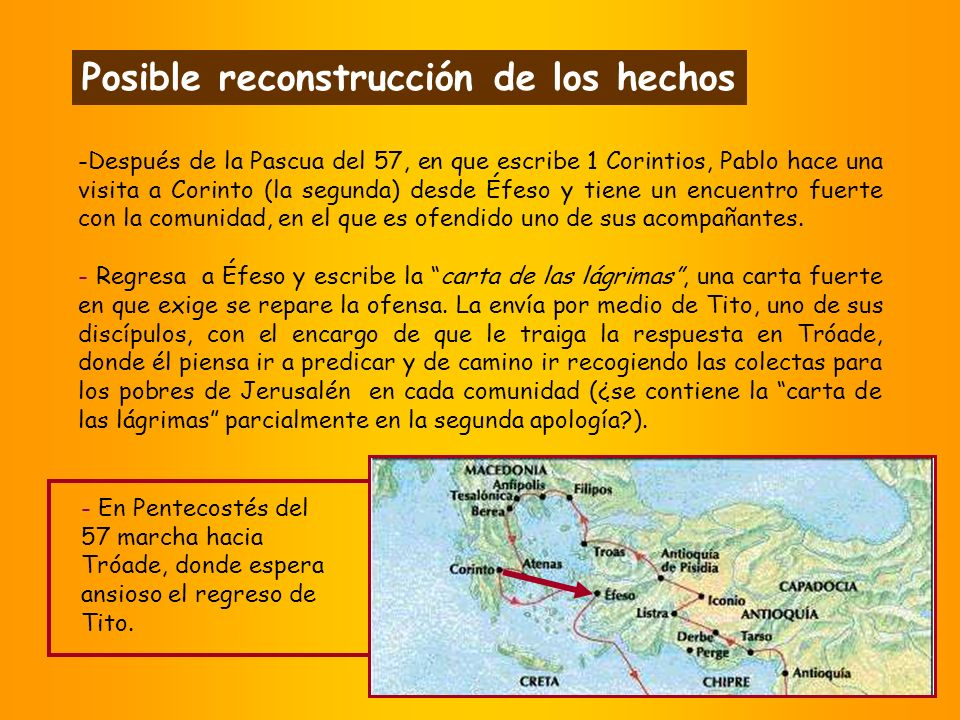 - Todo es fruto de la reconciliación, de la que Pablo ha sido constituido ministro (5,18-20) Y todo proviene de Dios, que nos reconcilió consigo por Cristo y nos confió el ministerio de la reconciliación.
