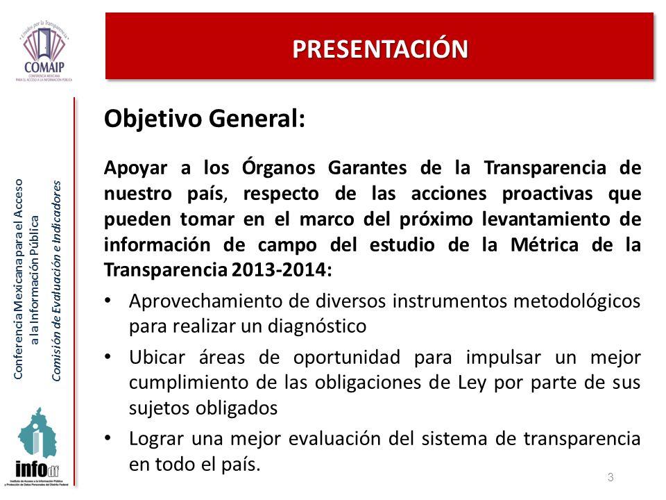 Conferencia Mexicana para el Acceso a la Información Pública Comisión de Evaluación e Indicadores PRESENTACIÓN Objetivo General: Apoyar a los Órganos