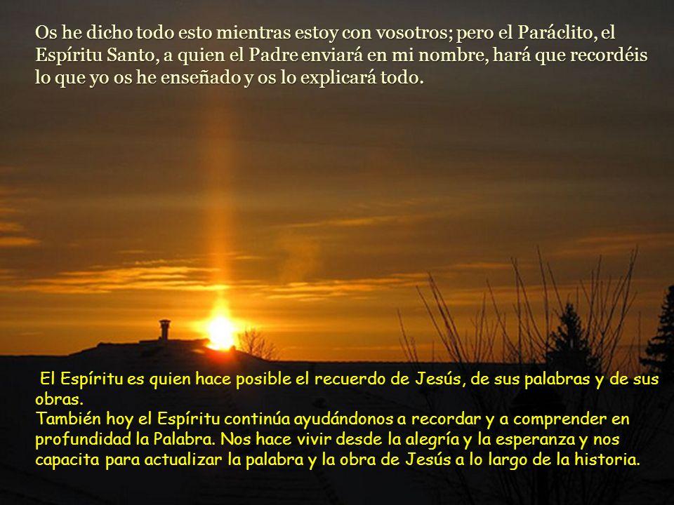 Jesús le contestó: –El que me ama, se mantendrá fiel a mis palabras. Mi Padre lo amará, y mi Padre y yo vendremos a él y viviremos en él. Por el contr