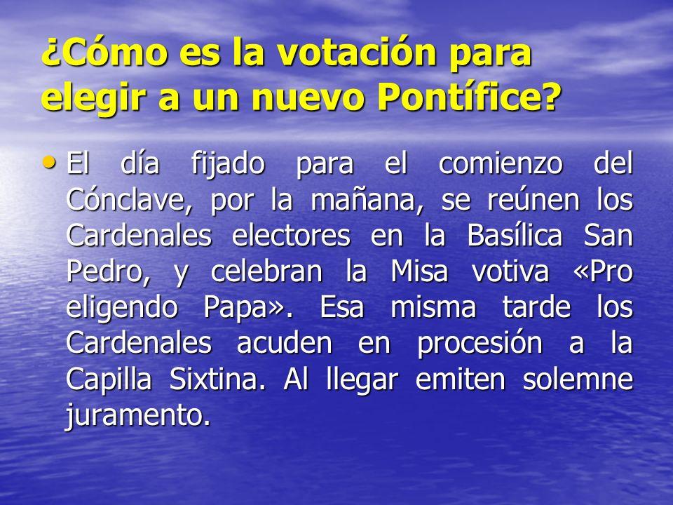 ¿Cómo es la votación para elegir a un nuevo Pontífice? El día fijado para el comienzo del Cónclave, por la mañana, se reúnen los Cardenales electores