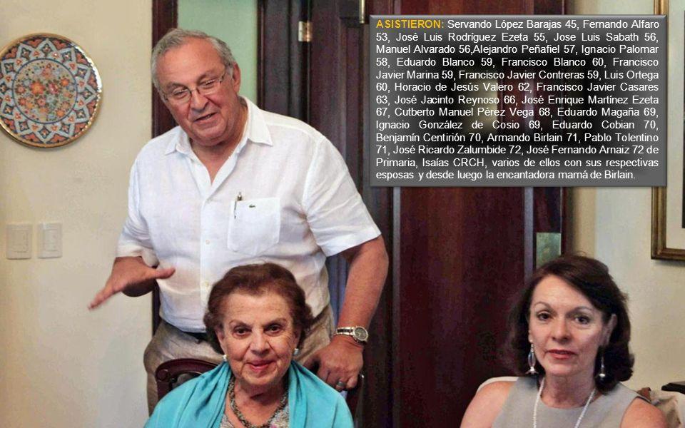 Manuel Alvarado y Escalante escribió: Guillermo, aprecio los mensajes que me envías sobre las actividades de los exalumnos del INSTITUTO PATRIA, tu dedicación desinteresada en ésto; igualmente lo afirma José Luis Rodríguez Ezeta.