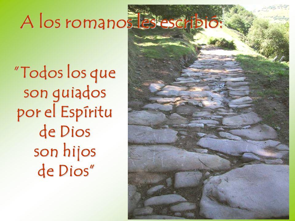 A los romanos les escribió: Todos los que son guiados por el Espíritu de Dios son hijos de Dios