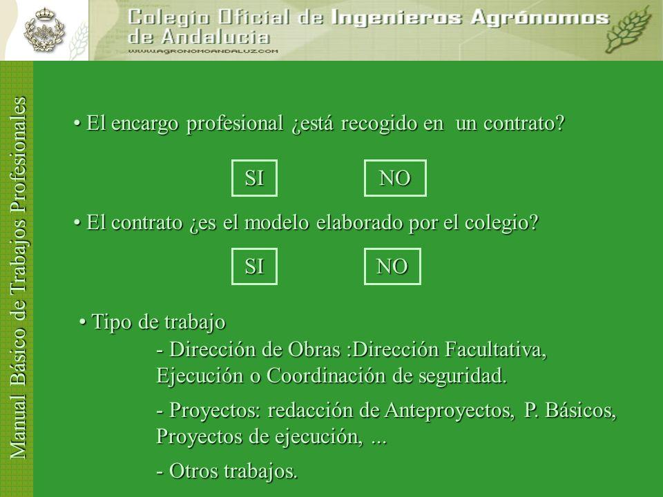Manual Básico de Trabajos Profesionales El encargo profesional ¿está recogido en un contrato.