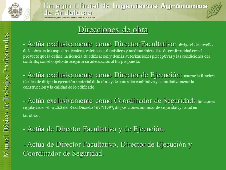 Manual Básico de Trabajos Profesionales Proyectos 4º Si durante el proceso de visado se detecta algún incumpli- miento a las Normas, le será comunicad