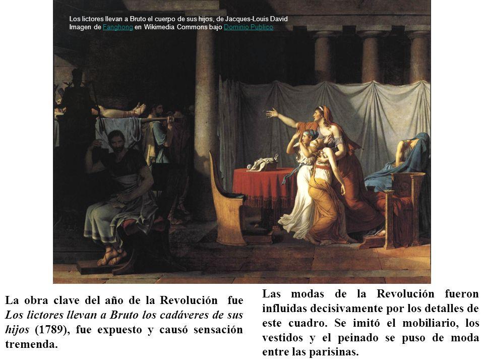 La obra clave del año de la Revolución fue Los lictores llevan a Bruto los cadáveres de sus hijos (1789), fue expuesto y causó sensación tremenda. Las
