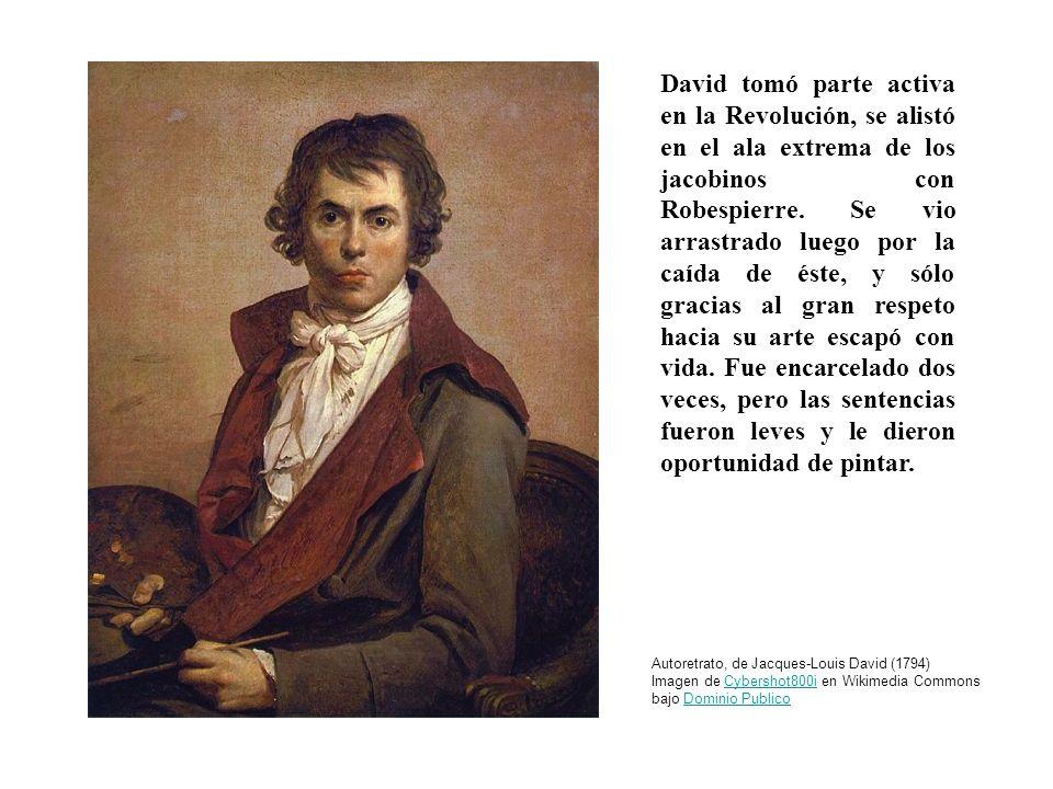 David tomó parte activa en la Revolución, se alistó en el ala extrema de los jacobinos con Robespierre. Se vio arrastrado luego por la caída de éste,