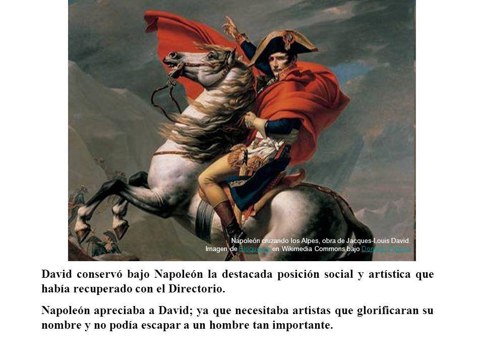 David conservó bajo Napoleón la destacada posición social y artística que había recuperado con el Directorio. Napoleón apreciaba a David; ya que neces