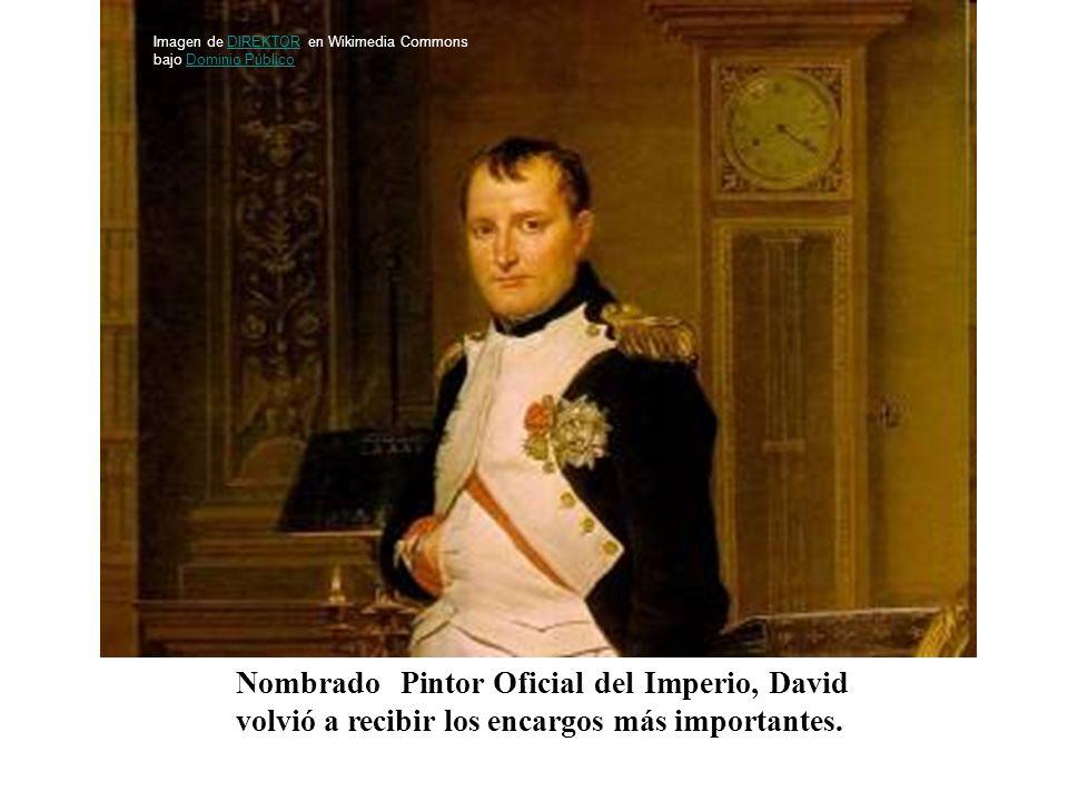 Nombrado Pintor Oficial del Imperio, David volvió a recibir los encargos más importantes. Imagen de DIREKTOR en Wikimedia Commons bajo Dominio Público