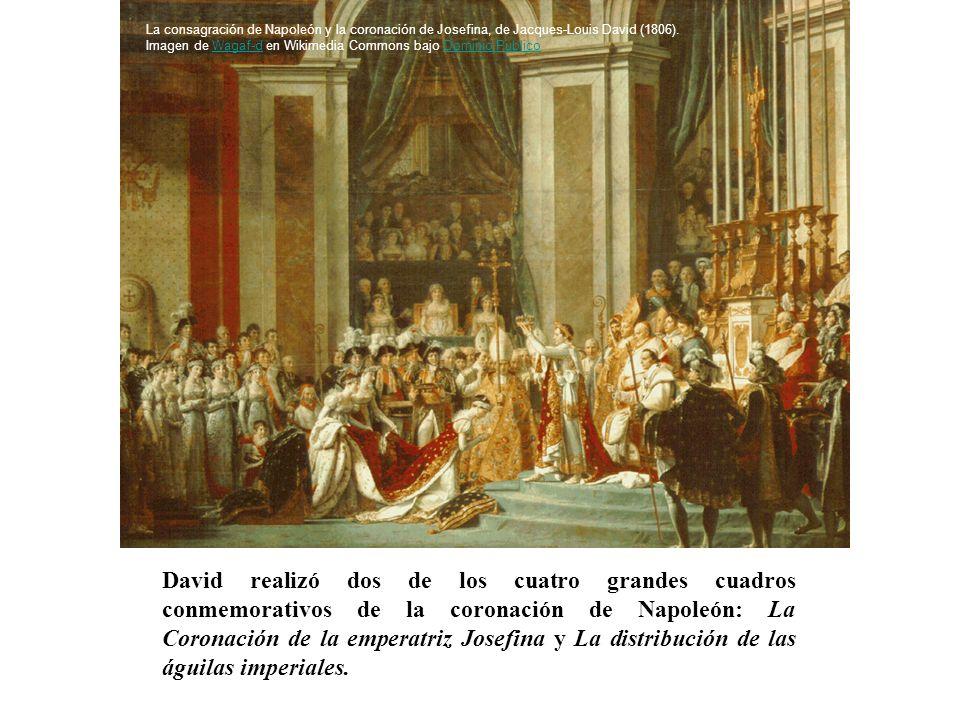 David realizó dos de los cuatro grandes cuadros conmemorativos de la coronación de Napoleón: La Coronación de la emperatriz Josefina y La distribución