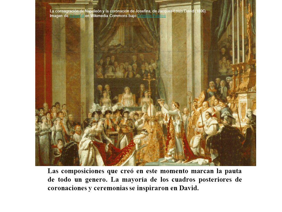 Las composiciones que creó en este momento marcan la pauta de todo un genero. La mayoría de los cuadros posteriores de coronaciones y ceremonias se in